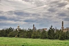 Mosque in pine forest Royalty Free Stock Photo