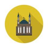 Mosquée plate d'icône Photographie stock