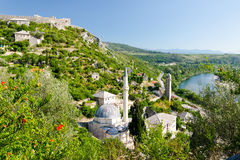 Mosque in Pocitelj village near Mostar, Bosnia and Herzegovina Stock Images