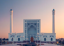 Mosque portal at sunset Stock Photography