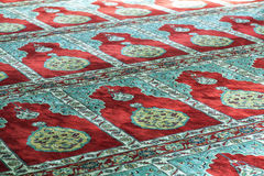Mosque prayer carpet Stock Image