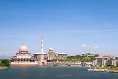 The mosque of Putrajaya, Malaysia Royalty Free Stock Photo