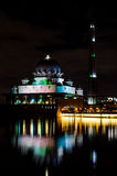 Mosque. Putrajaya mosque during the night Stock Photos
