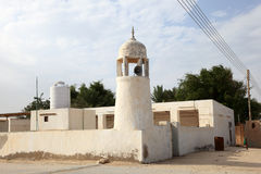 Mosque in Qatari village Royalty Free Stock Photo