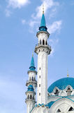 Mosque of Qolsharif, minarets Royalty Free Stock Images
