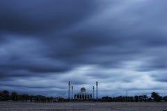 Mosque on a rainy day. Rainy season Stock Images