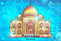 Mosque Ramadan Kareem background. Colorful design is decorated with Mosque on the creative background to celebrate the Islamic holiday of Ramadan Kareem Royalty Free Stock Photography