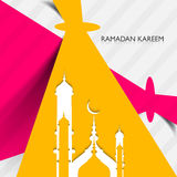 Mosque ramadan kareem creative concept colorful  Royalty Free Stock Photography