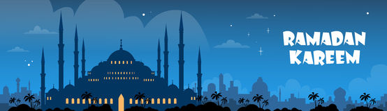 Mosque Ramadan Kareem Muslim Religion royalty free illustration