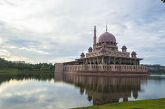 Mosque reflection Royalty Free Stock Photos