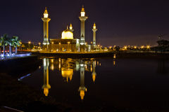 Mosque. With reflection shot at night royalty free stock photos