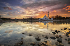Mosque reflection royalty free stock photo