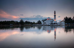 Mosque reflection Stock Photography