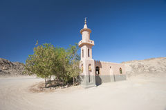 Mosque in remote desert egyptian village royalty free stock image