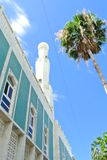 Mosque Reunion Island Minaret. Mosque skyline tree vertical Royalty Free Stock Photo