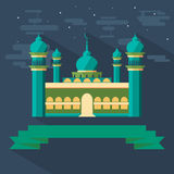 Mosque and Ribbon Royalty Free Stock Photo