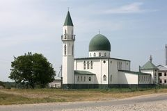 Mosque at road. Muslim mosque at a country road. Russia, North Caucasus Royalty Free Stock Photography