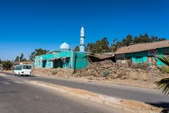 Mosque on the road from Gondar to the Simien mountains, Ethiopia, Africa royalty free stock photos