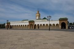 Mosque in royal palace in rabat,morocco. Mosque which is exclusive to morocco royal Royalty Free Stock Image