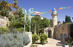 Mosque in Safed, Israel. Old Turkish mosque in Safed, Israel stock photo