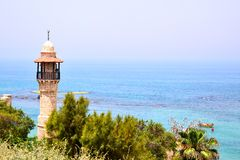 Mosque and sea Royalty Free Stock Image