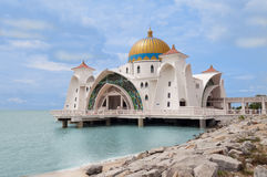 Mosque Selat Melaka Royalty Free Stock Photography