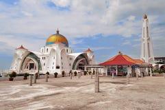 Mosque Selat Melaka Royalty Free Stock Image