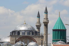 Mosque of Selim in the Mevlana. Mosque of  Mevlana in Konya City Stock Photos