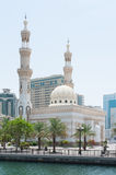Mosque in Sharjah, UAE. View of Mosque in Sharjah near Dubai, UAE Stock Photos