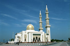 Mosque, Sharjah, United Arab Emirates. This beautiful mosque is in the Emirate of Sharjah Stock Photography