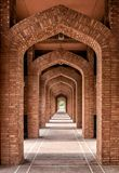 Mosque side walls bahria town mosque lahore Royalty Free Stock Image
