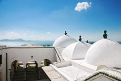 The mosque in Sidi Bou Said, Tunisia Stock Images