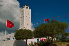 Mosque in Sidi Bu Said Royalty Free Stock Photo