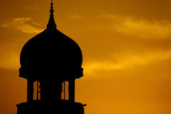 Mosque silhouette Stock Images