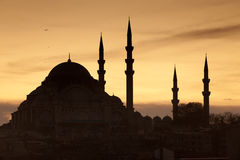 Mosque Silhouette Royalty Free Stock Photos