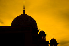 Mosque silhouette Stock Image
