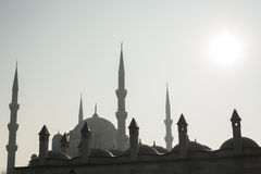 Mosque silhouette, Istanbul, Turkey Royalty Free Stock Photography