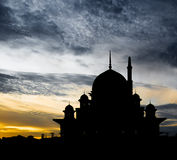 Mosque Silhouette, Malaysia III Royalty Free Stock Photo
