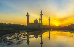 Mosque silhouette Stock Photography