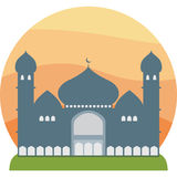 Mosque silhouette  Royalty Free Stock Photo