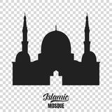 Mosque silhouette. Vector illustration of islamic mosque Royalty Free Stock Photos