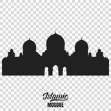 Mosque silhouette. Vector illustration of islamic mosque Stock Image