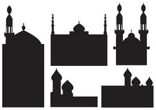 Mosque silhouettes Royalty Free Stock Photo