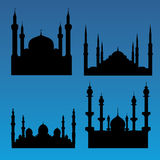 Mosque silhouettes Stock Images