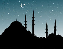 Mosque silhoutte Royalty Free Stock Images