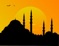 Mosque silhoutte Royalty Free Stock Photography