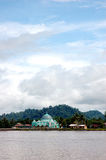 Mosque. A small mosque on the banks of the river Malinau, Indonesia Royalty Free Stock Photography