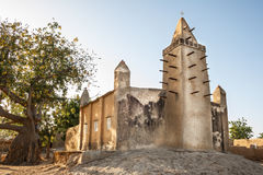 Mosque in a small village, Africa. Mud brick mosque in the small village of Kalabougu, Mali, Africa Royalty Free Stock Image