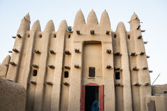 Mosque in a small village, Africa. Mud brick mosque in the small village of Seregou, Mali, Africa Royalty Free Stock Photo