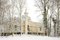 Mosque in the snow Royalty Free Stock Photo